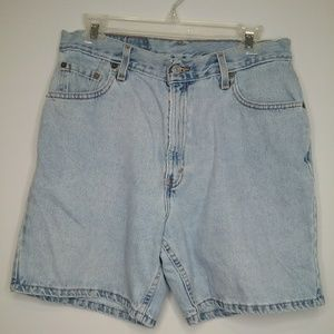 Vintage Levi's 550 Faded Denim High Waisted Shorts